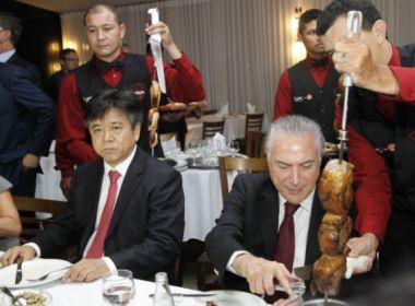 Churrascaria a qual Temer levou embaixadores não vende carne bovina nacional