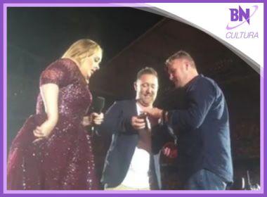 Pedido de casamento durante show de Adele é destaque na coluna Cultura