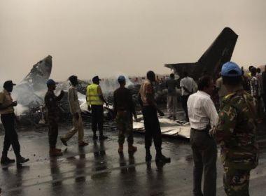 Avião com pelo menos 40 ocupantes cai no Sudão do Sul e todos sobrevivem