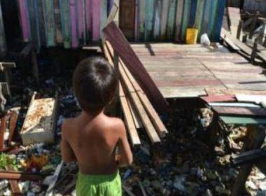 Relatório mostra que 40% das crianças brasileiras entre 0 e 14 anos vivem na pobreza