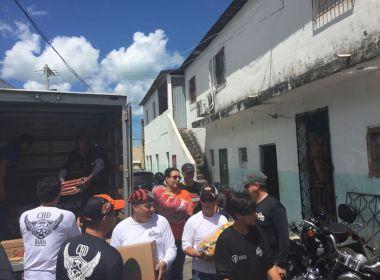 Clube Harley Davidson faz doações a entidade que acolhe crianças e adolescentes