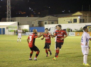 Fora de casa, Vitória goleia Jacobina por 4 a 1 e mantém 100% no Baianão