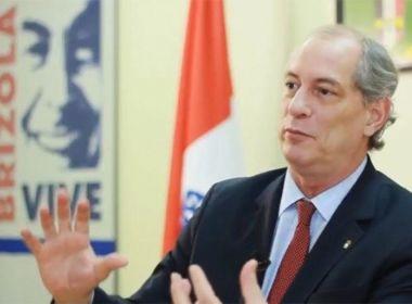 CIRO GOMES SUGERE 'PT' APRESENTAR OUTRO NOME PARA PRESIDENTE