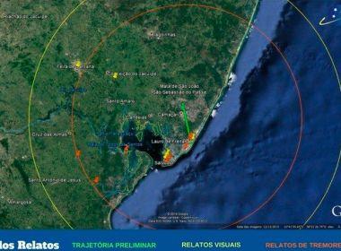 Observatório aponta indícios de que tremor foi causado por meteoro