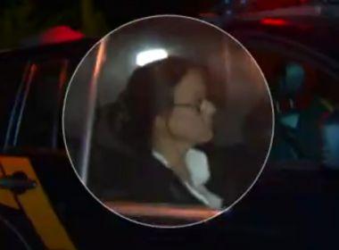 Adriana Ancelmo é levada para cumprir prisão domiciliar no Rio de Janeiro