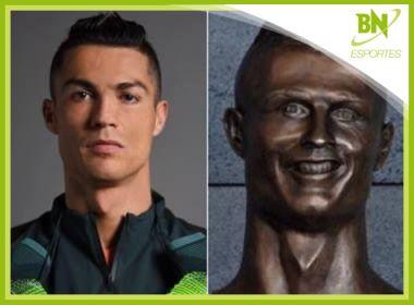 Piada com busto de Cristiano Ronaldo é destaque na coluna Esportes