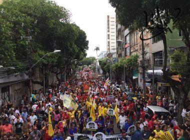 CUT Bahia estima 1 milhão de pessoas atingidas por mobilizações no estado