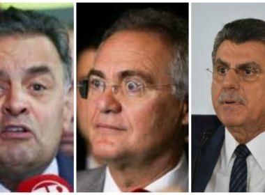 Aécio, Jucá e Renan são campeões de inquéritos na lista de Fachin