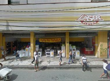Loja de eletrodomésticos é invadida na Av. Sete de Setembro; 20 celulares são roubados