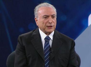 Temer afirma que compartilha da indignação dos brasileiros com delações