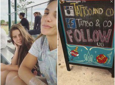 Ivete atiça curiosidade dos fãs após postar foto que sugere nova tatuagem