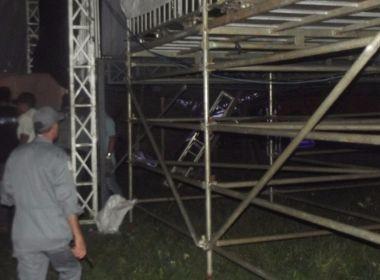 Parte de palco de Luan Santana desaba e deixa fãs feridos antes de show