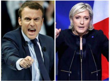 Macron e Marine Le Pen vencem primeiro turno das eleições da França