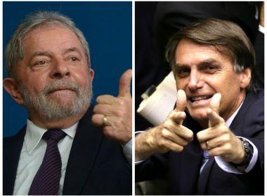 Lula e Bolsonaro lideram pesquisa de intenções de voto pós-delações da Odebrecht