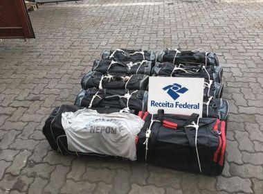 Polícia e Receita Federal apreendem cerca de 280kg de cocaína no porto de Salvador