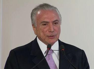 Em dia de depoimento de Lula, Temer pede fim de 'embate de brasileiro contra brasileiro'