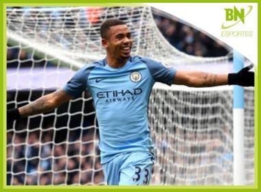 Destaque em Esportes: Estudo elege Gabriel Jesus como o mais eficiente da Inglaterra
