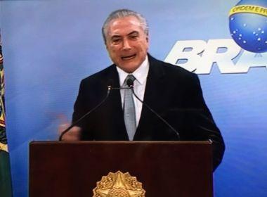 'Não renunciarei', brada Michel Temer em pronunciamento à República