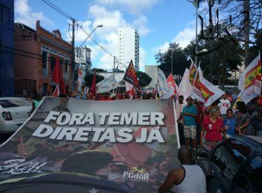 Com número maior de manifestantes, protesto contra Temer começa no Campo Grande