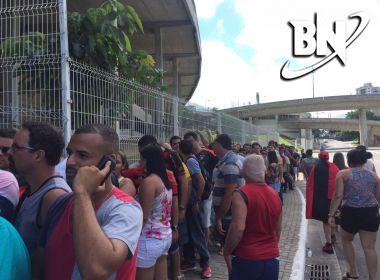 Bomba caseira é atirada contra torcedores do Sport perto da Fonte Nova