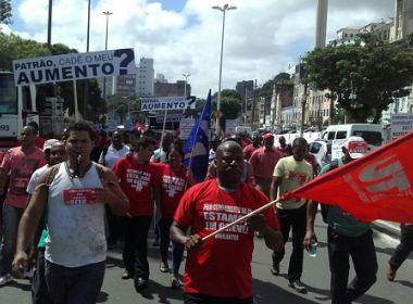 Vigilantes protestam por aumento salarial na Barra, no CAB e no interior do Estado