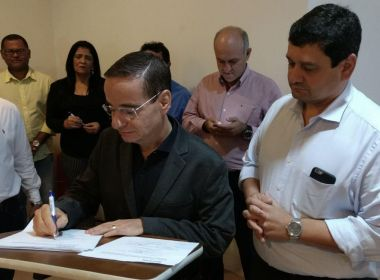 Sihs firma convênios com 23 municípios para executar planos de saneamento