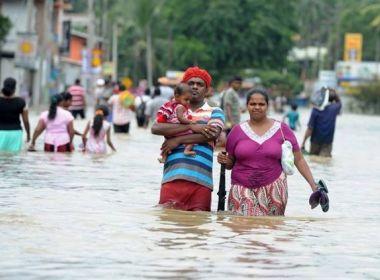 Inundações causam mais de 100 mortes no Sri Lanka