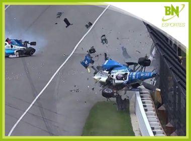 Destaque em Esportes: Piloto tem carro destruído após acidente na Fórmula Indy