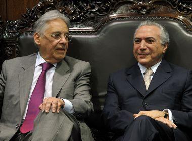 Temer se encontra com FHC para evitar que PSDB saia da base governista