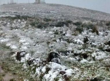 A poucos dias antes do inverno, Serra Catarinense registra neve nesta sexta