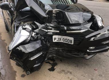 Lúcio Vieira Lima bate carro em poste na Barra