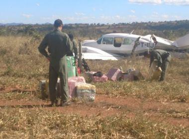 Avião com 500 kg de cocaína é interceptado em operação da FAB com a PF em Goiás