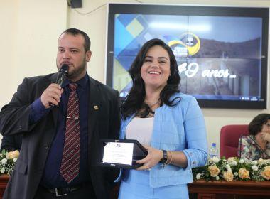 Presidente das Voluntárias Sociais recebe título de cidadã catuense
