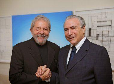 Paraná Pesquisas: 80% defendem prisão de Temer; 62% querem Lula detido