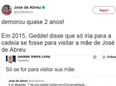 Após prisão de Geddel, Zé de Abreu lembra diálogo
