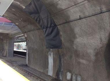 Estação Campo da Pólvora tem infiltração natural e sistema de 'guarda-chuva', diz CCR