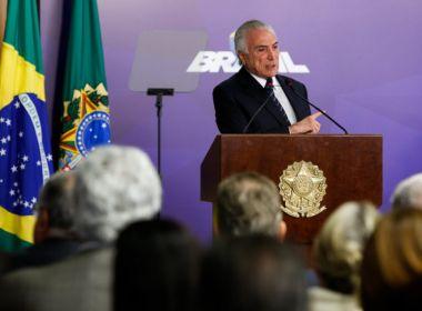 Em discurso, Temer afirma que há 'tentativa de desarmonizar os Poderes do Estado'