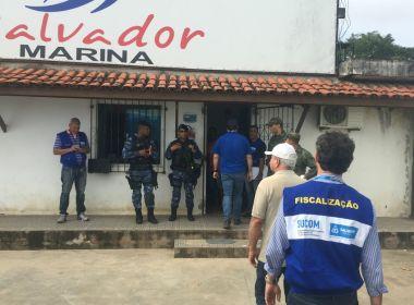 Prefeitura interdita Salvador Marina por falta de licença ambiental