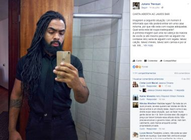 Homem negro é barrado em bar de Curitiba por estar 'parecendo segurança'