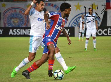 Bahia sai na frente, mas cede empate para o Avaí e mantém jejum de triunfos em casa