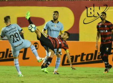 Vitória perde para o Grêmio em casa e aumenta crise