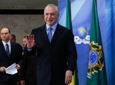Temer vai ao Rio de Janeiro acompanhar atuação das Forças Armadas no estado