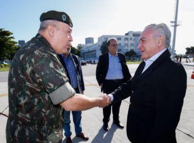 Forças Armadas podem ficar no Rio de Janeiro até final de 2018, autoriza Temer
