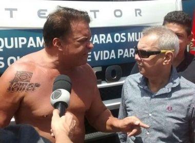 Depois de criar de 'Temerofobia', deputado tatua 'Temer' no ombro: 'Só Deus derruba'