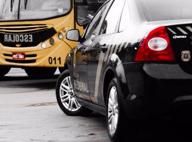 Porto Seguro: Operação da PF mira fraude em contrato de transporte escolar