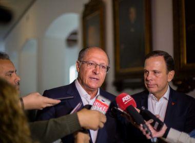 Tese de traição do PSDB a Temer 'não merece nem resposta', afirma Alckmin