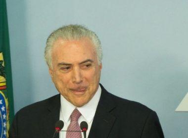 """TEMER PEDE PARA NÃO SER INCLUÍDO NO """"QUADRILHÃO DO PMDB"""""""