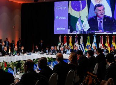 Mercosul suspende direitos políticos da Venezuela por 'ruptura da ordem democrática'