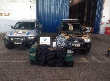 Receita e Polícia Federal apreendem 441kg de cocaína no porto de Salvador