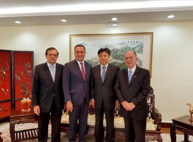 Antes de viajar para China, Rui se reúne com embaixador do país